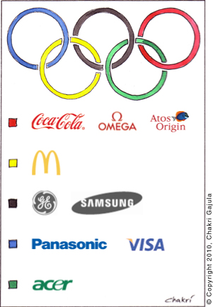 cartoon, Olympic cartoon, sponsors