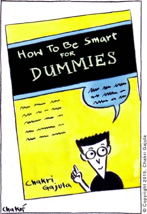 A typical 'For DUMMIES' book with title 'How to be Smart for DUMMIES'