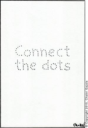 'Connect the dots' is written with dots