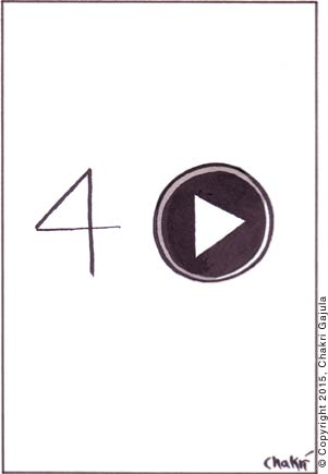 Number 'Four' and a 'Play' button are shown next to each other