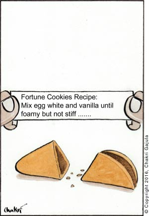 Message on a fortune cookie paper: Fortune Cookies Recipe ......